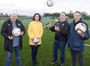# 1 Flashback to 2018: James Rogers, Caretaker of the Roscommon Community Sports Park, Nuala Hughes, Secretary of the Roscommon Community Sports Park, Johnny Horan, Treasurer of the Roscommon Community Sports Park and Liam Stephens, Chairperson of the Roscommon Community Sports Park pictured at the Roscommon Community Sports Park. * Officer positions as of 2018. Picture: Andrew Fox
