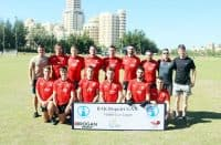 Elphin to Abu Dhabi: Shane Reynolds (front, sec-ond from right) and his Al Reem Shamrocks teammates.
