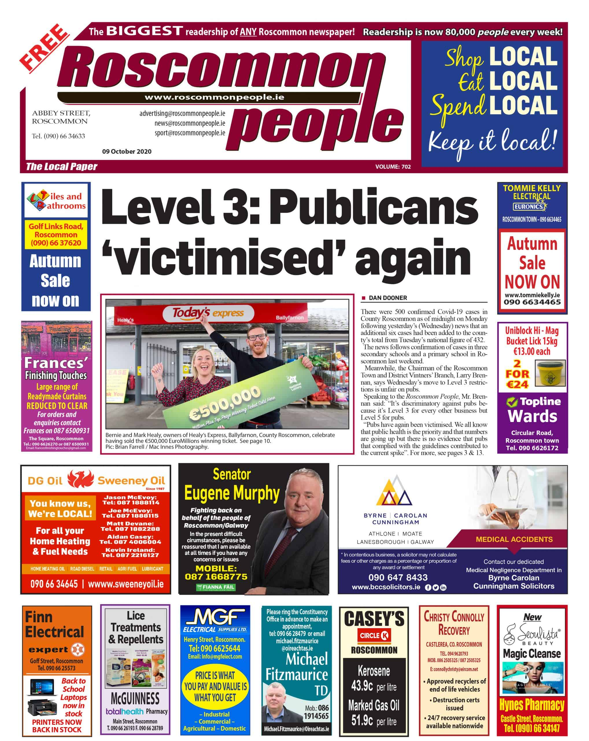 Roscommon People Digital Edition 9th October 2020